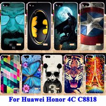 Anunob Soft TPU Hard PC Phone Case For Huawei Honor 4C C8818 Honor5 Covers For Huawei G Play Mini Honor4C Back Shell Skin Bags(China)