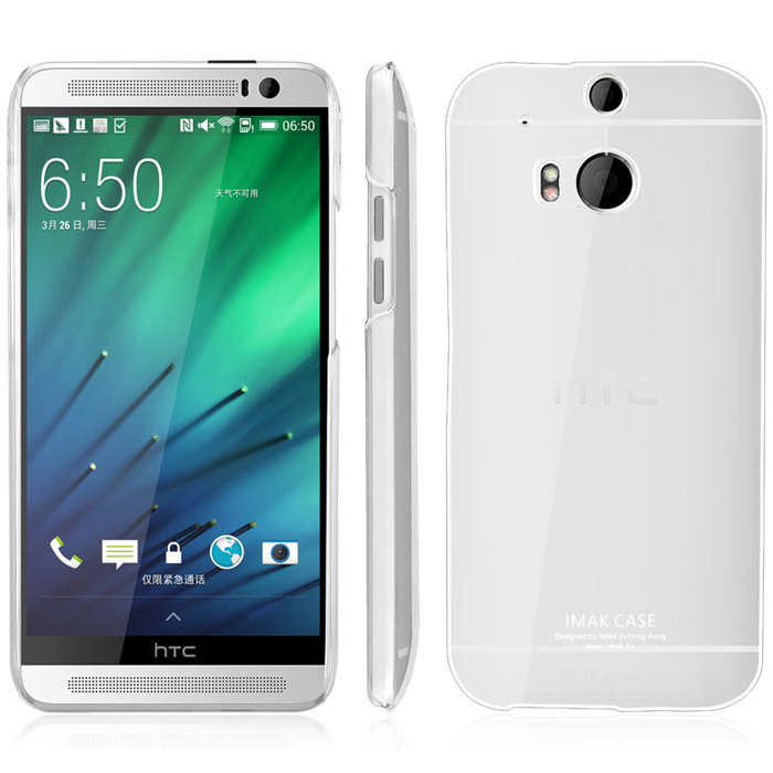 new product 69597 8b887 US $5.61  IMAK Crystal Case II Ultra Thin Transparent Durable Hard Case For  HTC M8 Back Cover For HTC One M8 with Retail Package Brand New-in Fitted ...