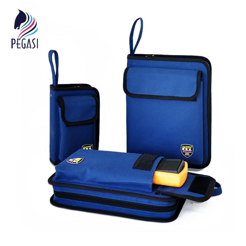 PEGASI Professional Electricians Tool Bag Hard Plate Kit Tool Bag Set Multifunctional Kit Bag mono efx producer bag black versatile tool kit for digital creators
