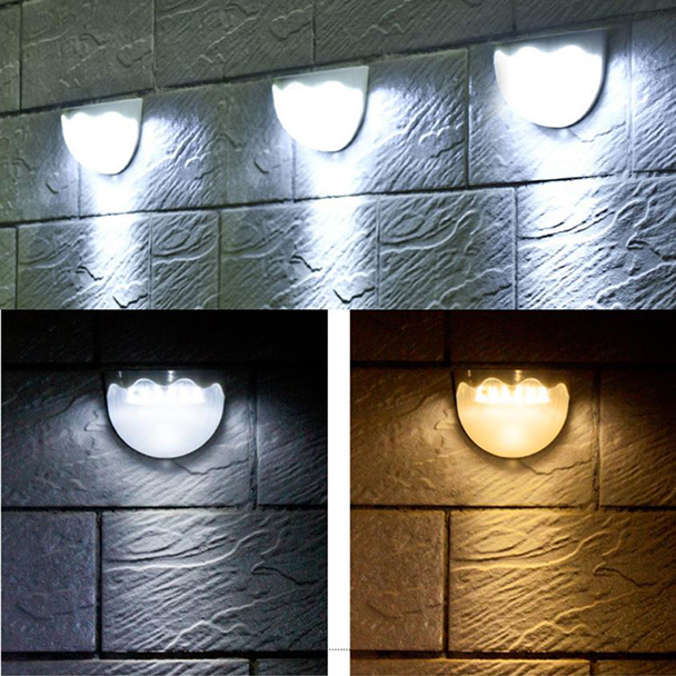FGHGF 2018 Light Sensor 6 LED Wall Light Outdoor Garden Fence IP55 Waterproof Lamp Automatically Light gutter fence Warm White fghgf 2018 light sensor 6 led wall light outdoor garden fence ip55 waterproof lamp automatically light gutter fence warm white