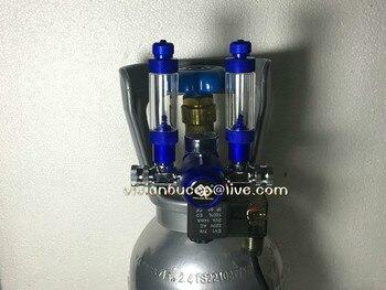 Aquarium CO2 Regulator JIS M22-14 W21.8 CGA320 Interface Check Valve Bubble Counter Magnetic Solenoid Valve 110v 220v