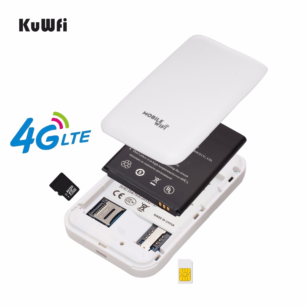 Image 4 - KuWFi Mini 4G LTE WIFI Router Unlocked Portable 3G/4G Wifi Router Modem Car Wi fi Router With Sim Card Slot-in 3G/4G Routers from Computer & Office
