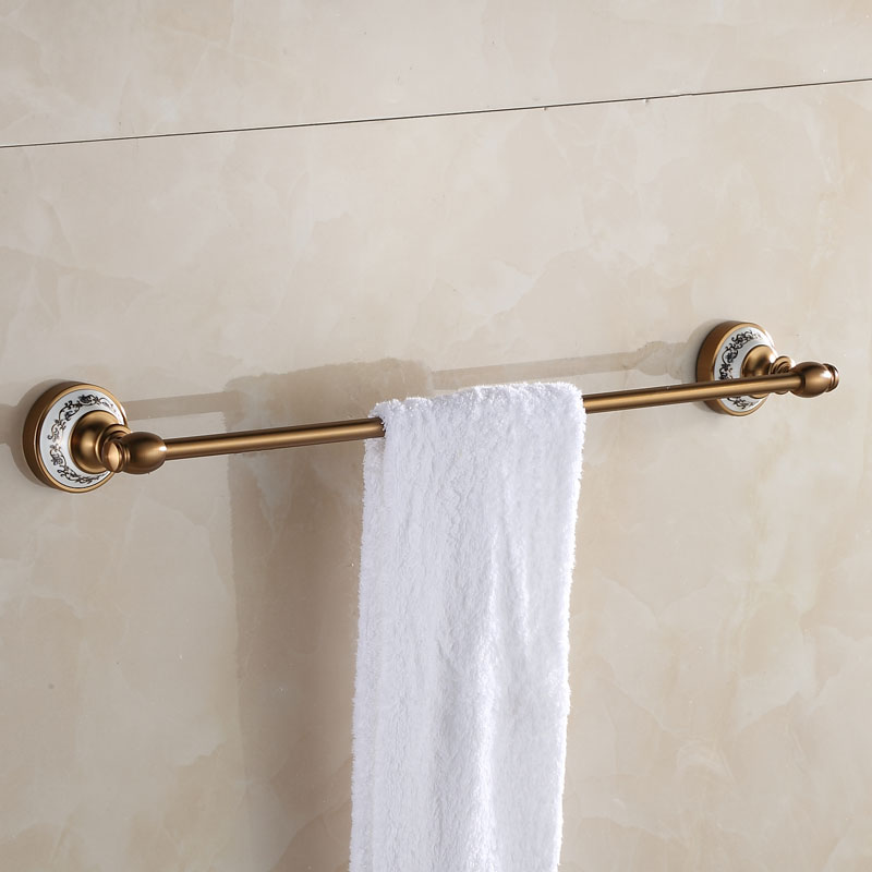 European Space Aluminum Antique Bathroom Towel Bar/ Towel Rack Single Wall Mounted  Bathroom Accessories bathroom space aluminum single towel bar towel holder bathroom accessories single towel rack