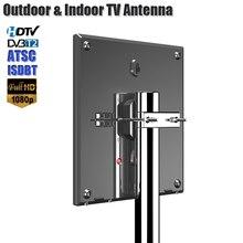 Antena HD dla telewizja cyfrowa obsługa DVB T2 ATSC ISDBT antena telewizyjna zewnętrzna/wewnętrzna TV wzmacniacz sygnału o wysokiej mocy antena o niskim poziomie hałasu