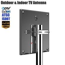HD Antenna For Digital TV Support DVB T2 ATSC ISDBT Outdoor/Indoor Signal Amplifier High Gain Low Noise