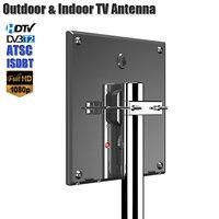 HD Antenna For Digital TV Support DVB T2 ATSC ISDBT TV Antenna Outdoor/Indoor TV Signal Amplifier High Gain Low Noise Antenna
