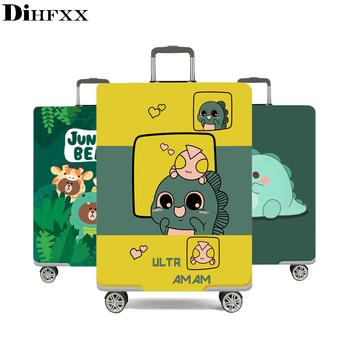 DIHFXX elastyczny gruby pokrowiec na bagaż do walizki bagażowej zastosuj do walizki 18 #8221 -32 #8221 pokrowiec ochronny na walizkę podróż podróżna tanie i dobre opinie Poliester DX-72 Klapy Bagażnika Akcesoria podróżnicze 0 38kg Polyester Animal prints easier to find your own suitcase