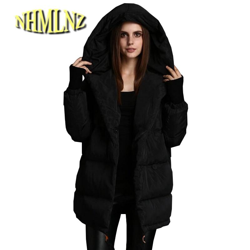 European New Fashion Women Winter cotton jacket Elegant Hooded Loose Leisure Coat Women Slim Thickening Super Warm Coat G2251 стоимость