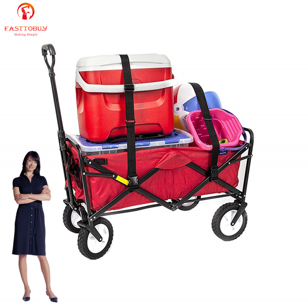 150L Collapsible Folding Outdoor Utility Wagon Trolley Cart for Gardens, Parks, Camping, Outdoor Activities, Moving Things image