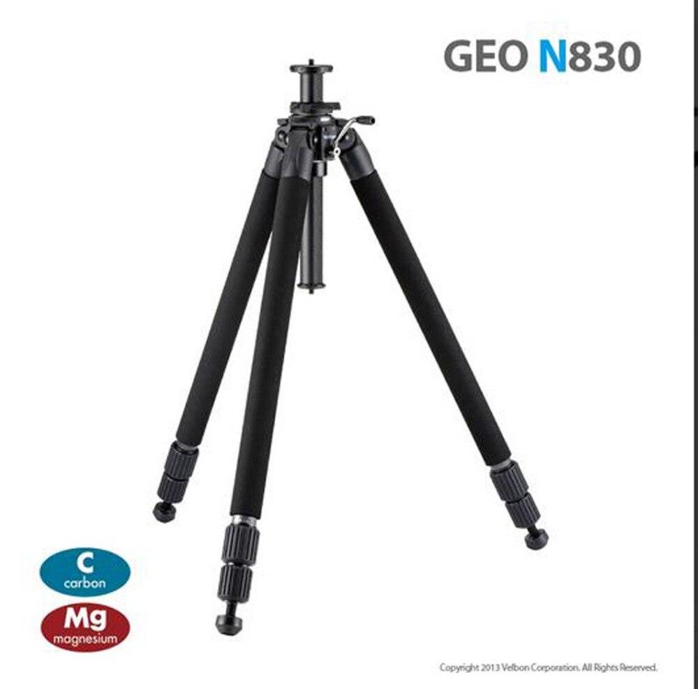 VELBON GEO N830 En fiber de Carbone professionnel Trépied