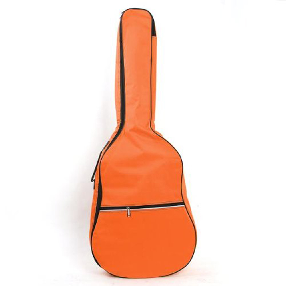 2 PCS of (Gig Bag Case Soft Padded Straps for Folk Acoustic Guitar 39 40 41 Inch Orange) 40 41inch acoustic classical guitar bag case backpack adjustable shoulder strap portable 4mm thicken padded black