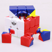 цена на Colorful 3x3x3 Cyclone Boys Magic Speed Cube Stickerless Puzzle cube Profissional Cubo Magico Cube Funny Toys Gift For Children
