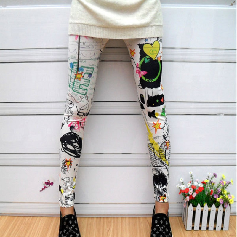 Liva Girl   Leggings   Cartoon Printed Leggins High Stretch Girls   Legging   Punk Rock   Legging   Fashion Pants Evening Clubwear 2019