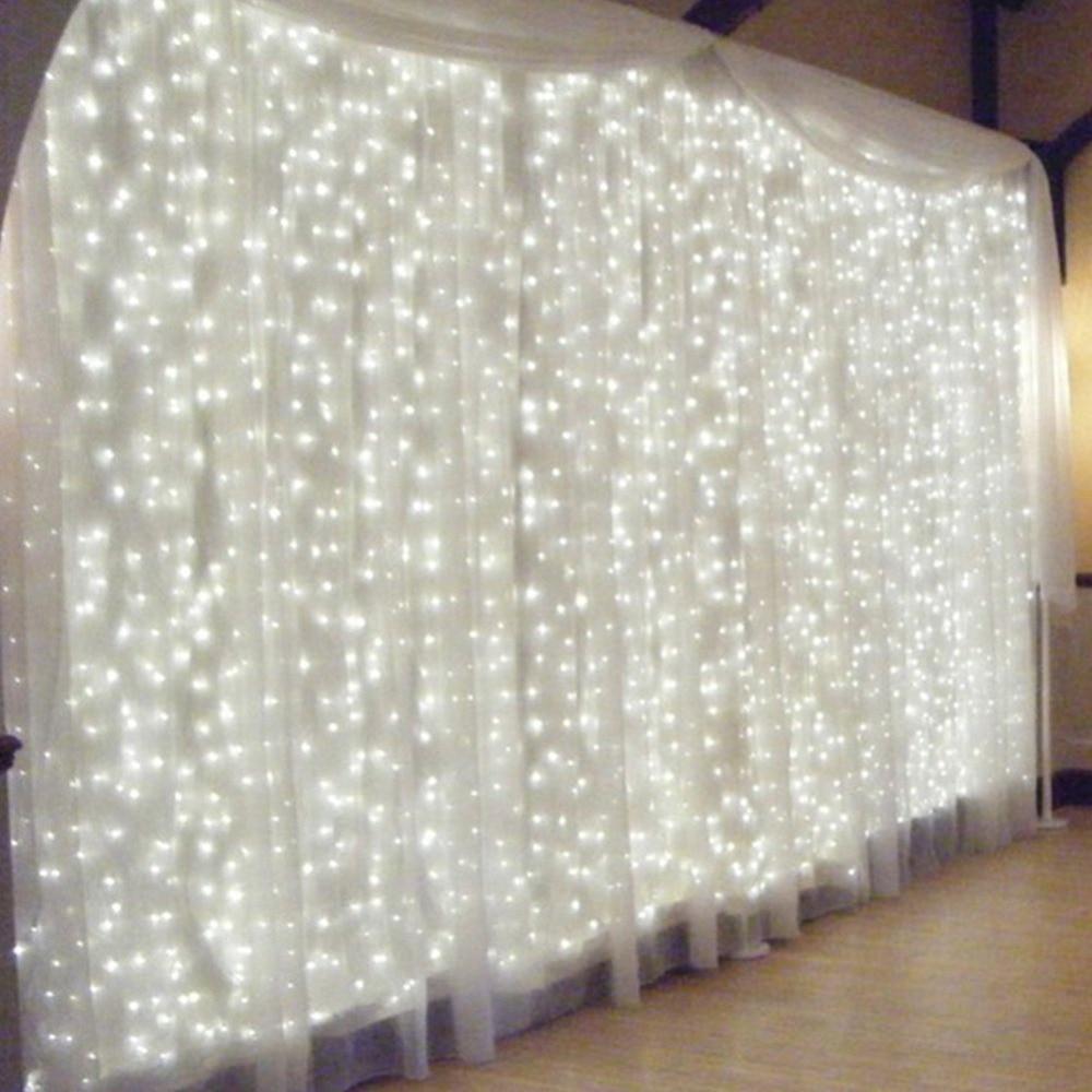 3x3 м светодиодной строки AC220V 300LED свадебная фея света Водонепроницаемый Открытый сад на день рождения украшения занавес свет