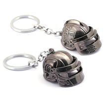 PUBG Key chain Battle Grounds Keychains man Openable Helmet Spiked Rivet Alloy Keyring Jewelry Game Fans Gift llaveros