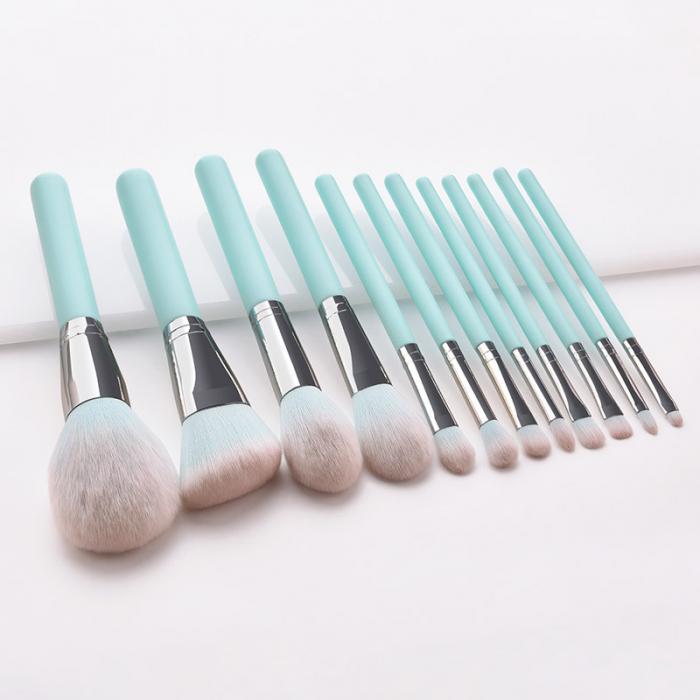 12 pçs pincéis de maquiagem conjunto azul