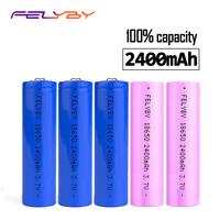 FELYBY 18650 battery high quality rechargeable battery 3.7V Batteries 2400mAh bateria 18650 lithium for Laser pen e cigarette