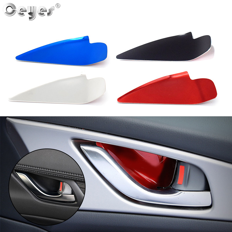 Ceyes Car Inner Door Handle Bowl Cover For <font><b>Mazda</b></font> CX-<font><b>5</b></font> CX-3 2017 2018 CX <font><b>5</b></font> CX-4 <font><b>Mazda</b></font> 3 6 Axela ATENZA Auto Accessories <font><b>Stickers</b></font> image