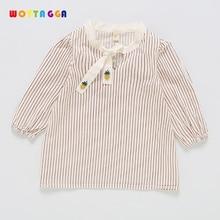 WOTTAGGA 2019 Kids Girl Clothes Stripes Pattern New Design Spring Children Clothing Princess Long Sleeve