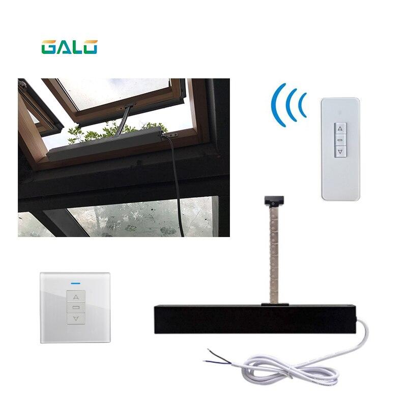 Ouvre-fenêtre automatique pour la maison/ouvre-fenêtre électrique pour la maison (télécommande + récepteur inclus) ouvert 300mm argent