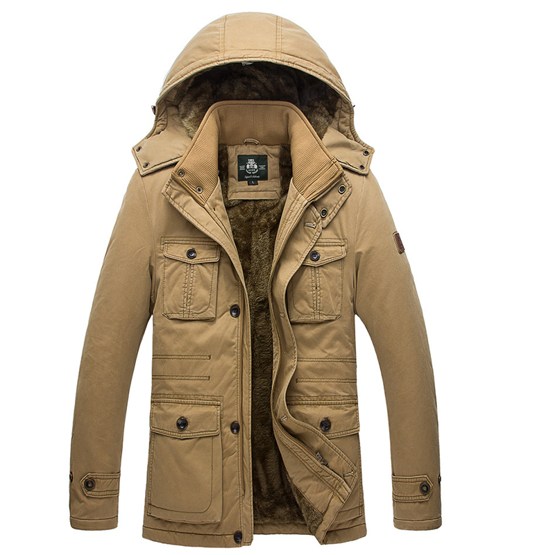 Fishing Clothing Winter Jacket Warm Jackets Coat Men High Quality Thicken Clothing Male Casual Slim Fit Zip Up Hooded Jackets