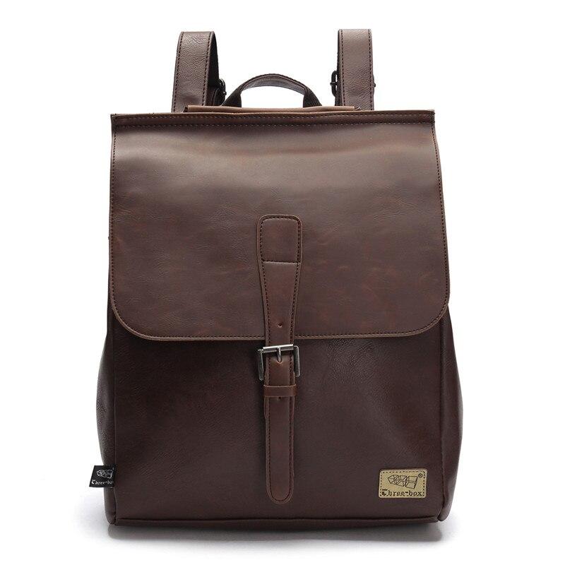Vintage Men's backpacks brand bag men laptop leather backpack men's travel bags big knapsack Business travel bag Bolsas