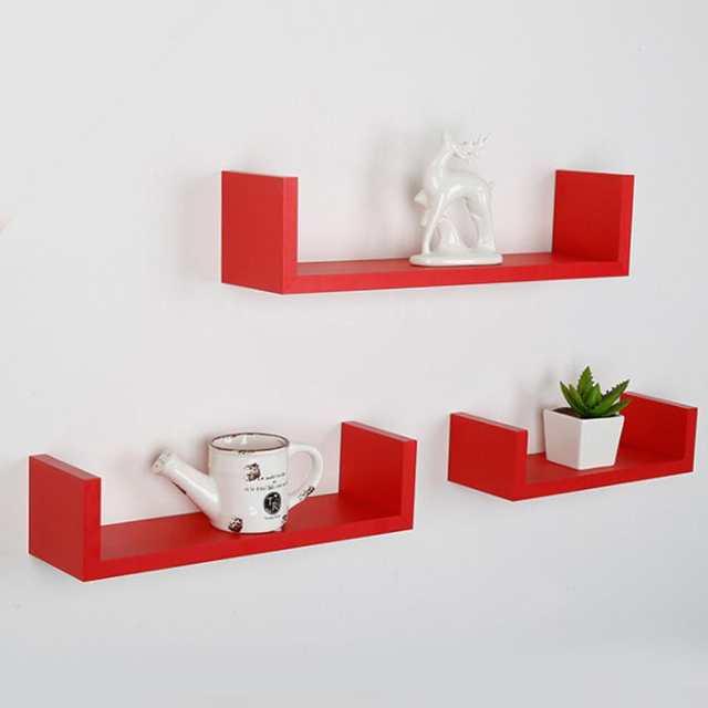 U Shape Floating Wall Shelves Storage