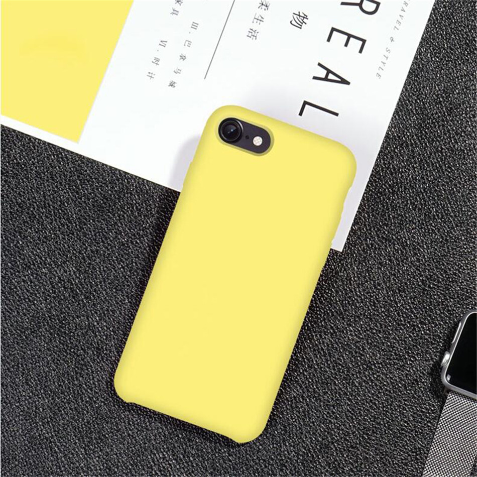 Original Silicone Case on iPhone 7 8 6 6S Plus X 5s 19