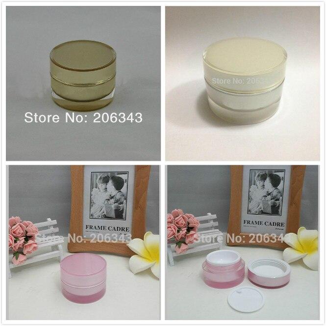 15g zlato / biserno bela / roza akrilna kozarec naravnost okrogla krema za kožo za oči / dnevna krema / esenca / vlažilno plastično pakiranje