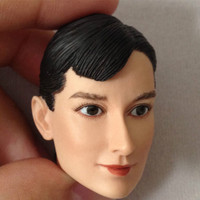 Audrey Hepburn Head Sculpt 1/6 Scale Roman Holiday Female Head Carving Model Toy