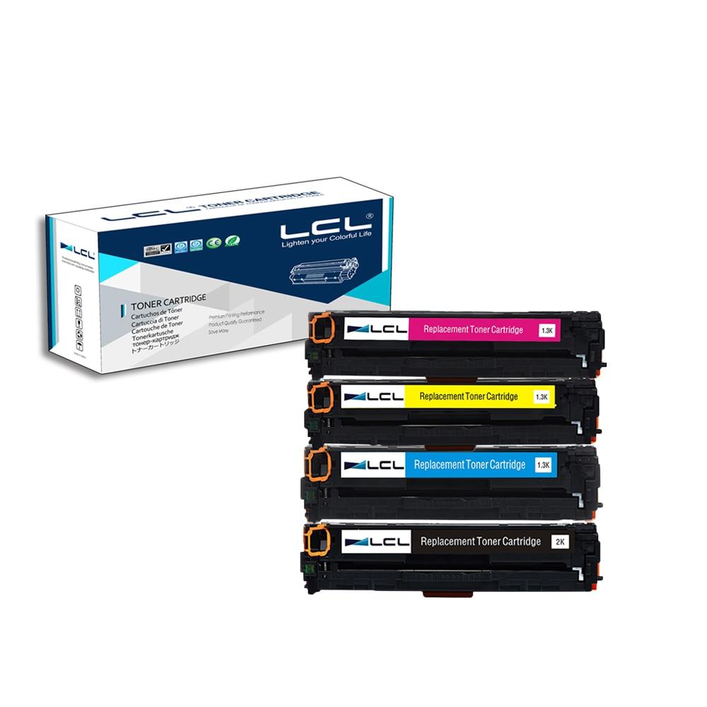 LCL 128A CE320A CE321A CE322A CE323A (4-Pack) Tonerpatrone Kompatibel für HP Color...