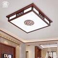 Китайский стиль винтажный деревянный акриловый светодиодный потолочный светильник для гостиной  спальни  балкона  крыльца  деревянная сто...