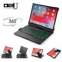7 Colors Backlit Wireless Keyboard Case For iPad Pro 11 2018 Smart Tablet Flip Cover Pencil Holder Shell Bluetooth keyboard Case