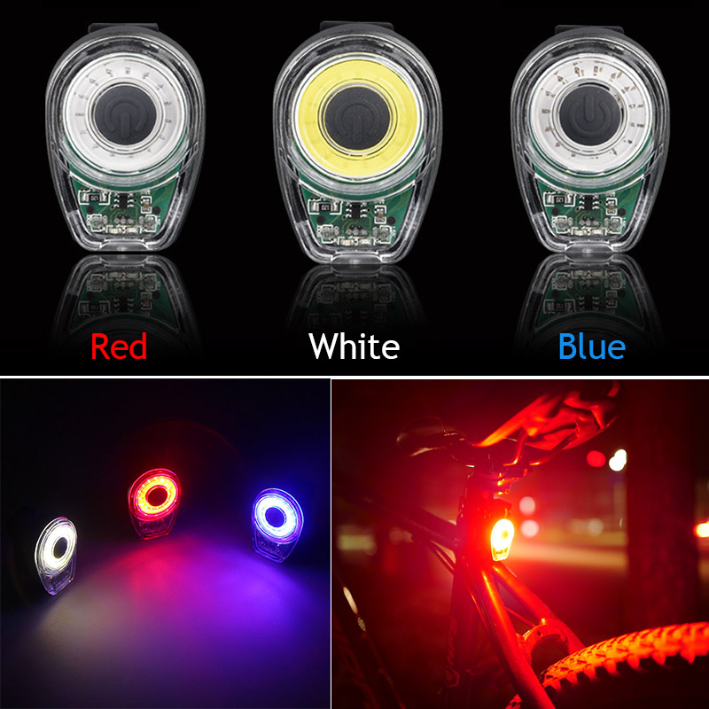 Smart Bicycle Tail Light USB Charging Warning Lights LED MTB Round Rear Back Safety Lamp Bike Accessory ALS88 bicycle wireless laser rear bike safety led warning light indicator remote rear rechargeable with battery usb charing tail lamp