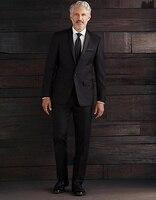 2017 Hombres Del Estilo Clásico Negro Esmoquin Abrigo del Mantón de la Solapa de Un Solo botón Traje Pantalón Mejores Hombres Traje De Negocios Boda (chaqueta + pantalones)