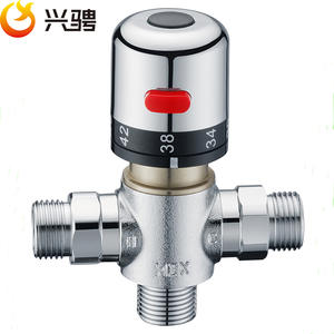 "Free Shipping G1/2""/DN15 Thermostatic valve thermostatic mixing valve deck mounted Solar brass thermostatic valve pipeline valve"