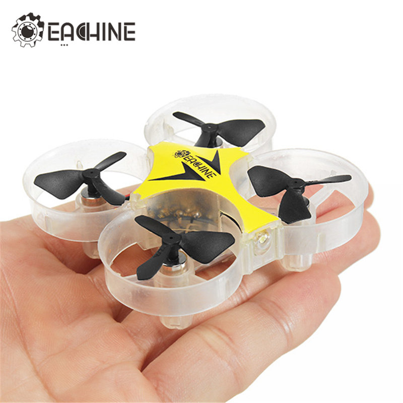 Eachine E012 Mini RC Quadcopter RTF Indoor Outdoor Toys RC Drone With 2.4G 4CH 6 Axis Headless Mode LED Light For Kids Gift wltoys q353 aeroamphibious rc drone air land sea mode 3 in 1 waterproof headless mode 2 4g led quadcopter headless mode toys rtf