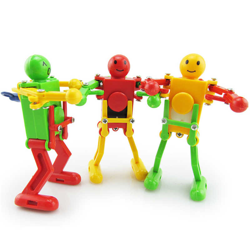 High Quality Clockwork Wind Up Dancing Robot Toy for Baby Kids Developmental Gift Puzzle Toys Great Fun Toys Gift Drop Shipping