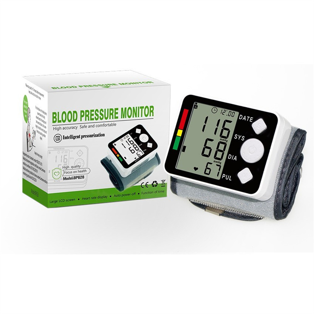 Automatic Blood Pressure Monitor Large LCD Digital Sphygmomanometer Health Care Heat Rate Monitor Arm Adult Blood Pressure Cuff  (5)