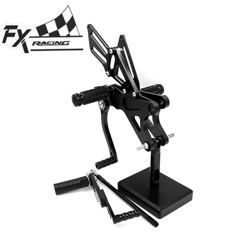 CNC Motorcycle Foot Pegs Rest Footpegs Pedals Rearset Footrest Rear Set For Yamaha YZF R1 YZFR1 2009 2014 2010 2011 2012 2013