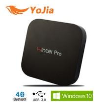 Wintel W8 Pro CX Pro Mini PC Windows 10 OS Intel 2 GB/32 GB Caja De ventanas Wintel W8 Pro 2.4 GHz Wifi BT4.0 Ventanas Inteligentes TV Box