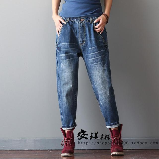Baggy Denim Casual Femme Pantalon Coton Harajuku Sweat Vintage Boho 7xavFw81Hq
