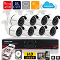 SUNCHAN HD 2MP Video Surveillance CCTV System 8CH Full HD 1080P HD AHD DVR Kit 8*1080P Outdoor Security Camera System 1TB
