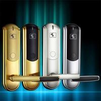 LK-08 smart IC card door lock hotel/apartment/office electromagnetic induction door lock gold/silver optional