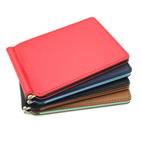 Hot Sale Mini PU Leather Money Clip Wallet For Wowen With Credit Card Slots Slim Men