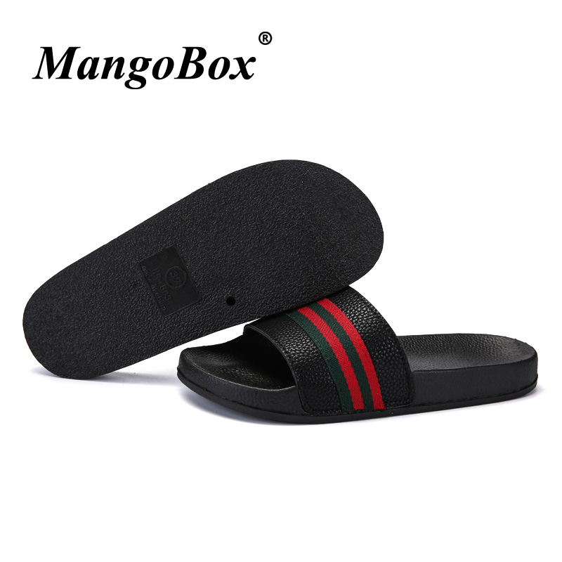 Popular Men Slippers Summer Flat Black White Men Slippers Shoes - Men's Shoes - Photo 4