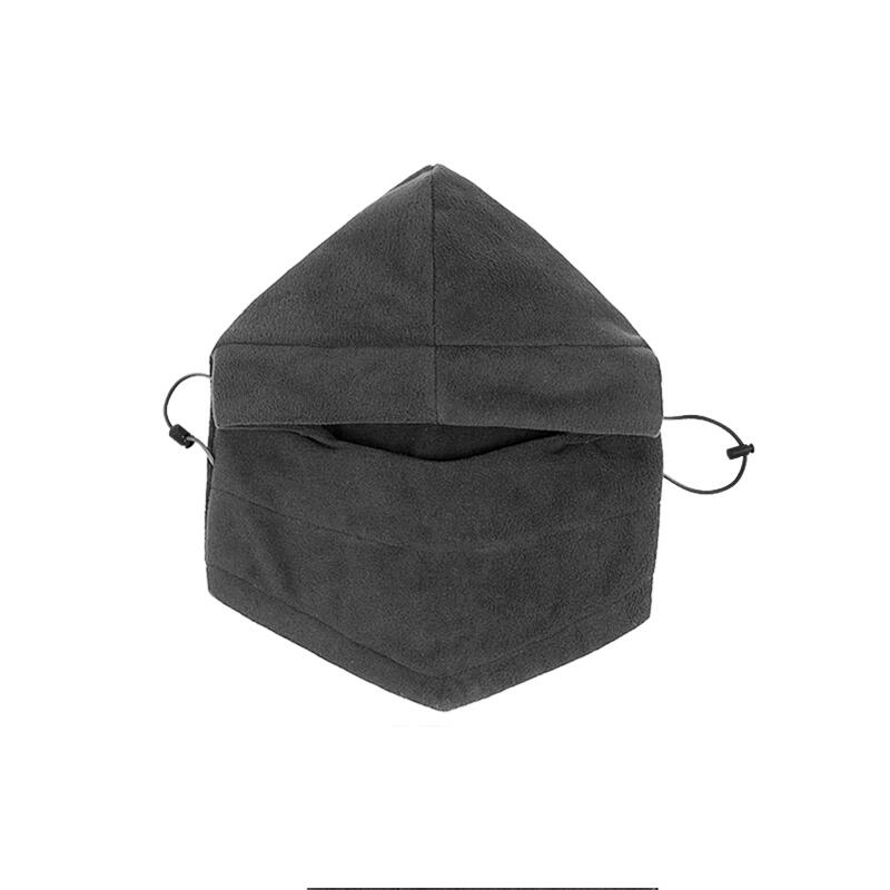 SUOGRY Thermal Fleece Balaclava Hat Hooded Neck Warmer Winter Sports Face Mask for Men Bike Helmet Beanies Masked cap 2