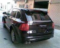 100% 炭素繊維車のリアウイングスポイラー TRUNK ポルシェカイエン用 2003 2004 2005 2006 2007 2008 2009 2010