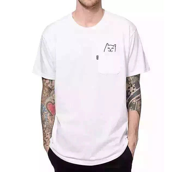 Ripndip t shirt HOMBRES MUJERES hip hop marca camiseta de algodón homme señor nermal camiseta harajuku kpop causal camiseta hombres palacio hba