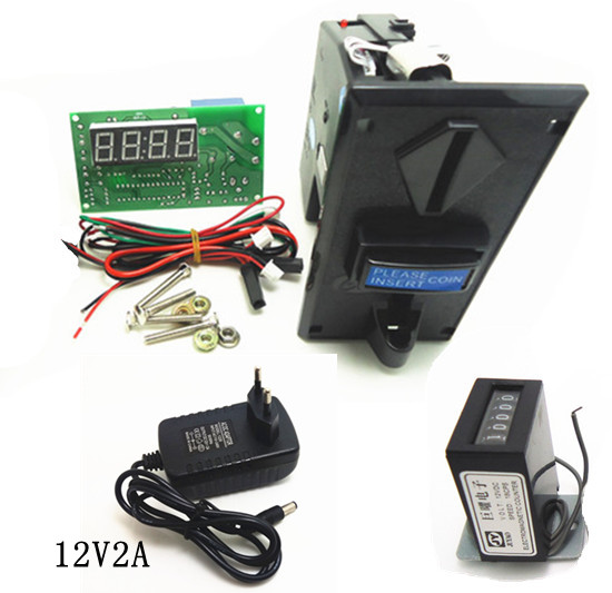 JY-923+15A+counter with EU adaptor coin operated Time Control Timer Board Power Supply for multi coin acceptor selector coin operated timer control power supply box to control 220v 240v washing machine electronic device
